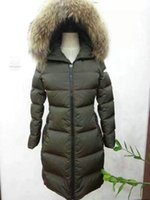 Wholesale French Style Clothes - MW21 Luxury French Brand Winter coats styles White Duck Down jackets women large Ladies clothing Long Parka