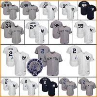 Wholesale New Jersey Yankees - Men's New York Yankees 99 Aaron Judge 2 Derek Jeter 24 Gary Sanchez Matting Stitched Authentic Baseball Jersey Flexbase Cool Base jerseys