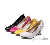 Wholesale Ballet Flat Shoes Price - wholesaler free shipping factory price hot seller new style high heel Wedge Heel red shoes BOW women shoes bowknot wedding shoe073