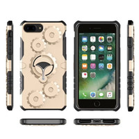 Wholesale Gear Case Cover - Outdoor Sport Case Hybrid Gear Multifunctional Cases Metal Rotatable Kickstand Cover For iPhone X 8 7 6 6S Plus 5 5S SE Sumsung S7 S8 Note 8