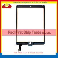 """Wholesale Ipad 2nd Digitizer - 9.7"""" For Ipad Air 2 2nd ipad 6 A1567 A1566 Touch Screen Digitizer Sensor Panel Glass Lens White Black+Tracking Code"""