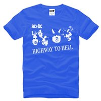 Wholesale Dc Tees - AC DC HIGHWAY TO HELL Empire punk rock band Mens Men 2017 Short Sleeve Cotton T-shirt Tee tops