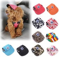 TAILUP 2017 Hot Sale Sun Hat pour chiens Cute Pet Casual Coton Baseball Cap Chihuahua Yorkshire Pet Products 11Colors 679