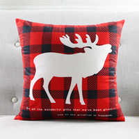 Wholesale chinese black sofa for sale - Group buy Decorative Christmas Deer Cushion Cover Chinese Red Pillow Case Super Soft Throw Pillow Cover Bedroom Sofa Decoration Printed