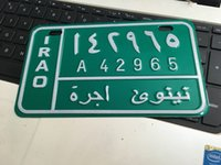 Wholesale Motorcycle Vespa - Foreign Arabic license plates motorcycle vespa iron painting sticker SCOOTER japan bicycle number plates metal home plaque decoration