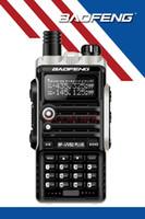 ingrosso walkie 8w-Commercio all'ingrosso - Baofeng BF-UVB2 Plus Walkie Talkie 8W Potenza portatile a due vie Radio VHF UHF UV Dual Band Walkie Talkie PTT