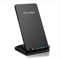 лучшее беспроводное зарядное устройство qi оптовых-2017 Qi Wireless Charger Best Sell Быстрое беспроводное зарядное устройство Стенд QI Стандартная беспроводная зарядка