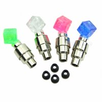 2 pedaços Dice LED Light Bicycle Bike Car Motor Válvula de roda Tige Cap pneu Neon Bulb