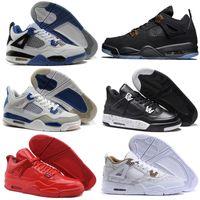 Wholesale Buy Thread - New Retro 4 Basketball Shoes Sports Sneakers Buy 2017 Men Women Retros 4s Man Zapatillas Authentic Original Real Replicas