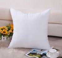 Wholesale Plain White Pillows - (100pcs lot)8oz plain white natural color pure cotton canvas pillow cover with hidden zip for DIY paint print blank cotton pillow case