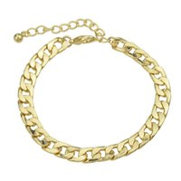 Ultimas Moda Concise Gold Color Chain Bracelet para Mulheres Wholesale Factory Price New Arriva