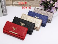 Wholesale Imported Photos - wholesale #609 Multi-style optional women's brand wallet fashion pocket bag designer best quality card bag imported Really leather have box