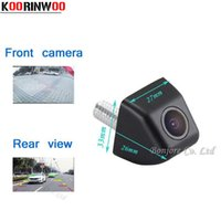 Wholesale Car Front Rear View Camera - KOORINWOO Wholesale Mini Car front Camera Auto rear view cam Waterproof Reverse Parking Camera Parking System High quality safe Assist