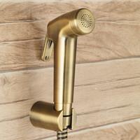 ingrosso mano di bronzo-Bronzo antico Toliet Hand Held Spray per bidet portatile ABS plastica Spray per pannolini Shattaf Set completo Set doccia spray per il bagno