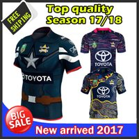 Wholesale Rugby Cowboys - In stocks Top quality 2017 Queensland Cowboys rugby jersey home and away Cowboys NRL rugby Jersey men shirts free shipping