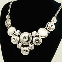 New Fashion Dj0083 Snap Necklace Diy Jewelry Rhinestone Cat Eye 'S Fittings Fit Diy 18mm 12mm Snap Buttons Jóias