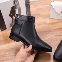 Wholesale western women paintings for sale - Group buy fashionville u751 black genuine leather ankle stud flat short boots designer b luxury fashion classic