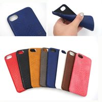 Wholesale Oppo Blue Bag - For iPhone 7 Plus Crocodile Grain Ultra Thin Case Soft PU leather Back Cover For iPhone 6s 6 Plus OPPO R9S Plus Opp Bag