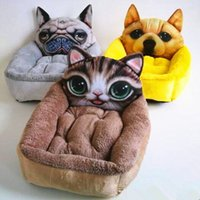 Wholesale 3D Pattern Lovely Pet House Dog Kennel Cat Beds Soft Cushion Inside Warm Room