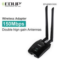 Wholesale Dbi Network - Wholesale- usb wifi adapter 802.11n EDUP high gain 6 dbi antenna long distance wi-fi receiver wireless wi fi network card for desktop