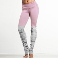 Wholesale Ribbed Leggings - New Candy Color Goddess Ribbed Leggings High Waist Skinny Yuga Pants Wicking Polyester Legins Women Fitness Workout Legging