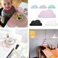 Wholesale 47 cm Waterproof Silicone Placemat Bar Mat Baby Kids Cloud Shaped Plate Mat Table Mat Set Home Kitchen Pads