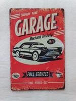 Wholesale Garage Mechanic on Duty Full Service Vintage Rustic Home Decor Bar Pub Hotel Restaurant Coffee Shop home Decorative Metal Retro Tin Sign