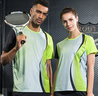 Wholesale Team Clothes Wholesale - Women Men Table Tennis Clothes Team Training Gym Running T Shirts Running Sportswear Quick Dry Breathable Badminton Shirt