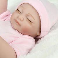Wholesale Reborn Baby Preemie - 11inch 100% Handmade Full Body Silicone Vinyl Reborn Baby Doll Boys Alive Preemie Newborn Birthday Gift Close Eyes Kids Toy Accompany Doll