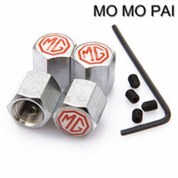 Wholesale peugeot wheel caps - HOT Car styling 4pcs Anti Theft Car Wheel Tire Valve Stem Air Caps fit for Land-Rover MG JAGUAR RENAULT SAAB Peugeot