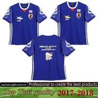 Wholesale Kitty Shorts - SWIN- Best Thai AAA+ Japan Home PIKACHU grey   color KITTY Beautiful Jerseys Men's outdoor Rugby Jerseys 2017 2018