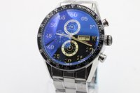 Wholesale Calibre 16 Black Dial - DHgate's best seller luxury brand watches men calibre 16 date black dial stainless steel watch quartz chronograph watch mens dress watches
