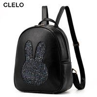 Wholesale Joker Style For Girls - Wholesale- CLELO 2016 new women pu backpack for ladies preppy style Joker fashion female backpacks teenenge for girls travel bags