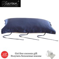 Wholesale Silk Pillow Cover Free Shipping - Wholesale- Lilysilk 100% Pure Mulberry Silk Pillowcase for Hair Pillow Cover Free shipping