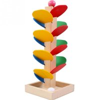 Wholesale Promotion Games Baby - PROMOTION Wooden Tree Marble Ball Run Track Game Baby Kids Children Intelligence Educational Toy