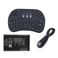 minix mouse al por mayor-Mini i8 Teclado inalámbrico con panel táctil y mouse para MXQ PRO MINIX Set Top Box 2.4G Teclados 50pcs / lot DHL gratis