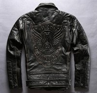 Wholesale Short Leather Jackets Sale - Hot sales coats FLIGTION Wings Man fashion motorcycle jacket LIVE FAST Men's genuine leather Clothing Canada Sweden