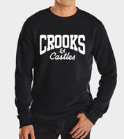 Wholesale New Castle Brown - Wholesale-2016 new autumn winter funny brand crooks and castles men sweatshirt hoodies suit fashion hip hop harajuku hoodie sweatshirts