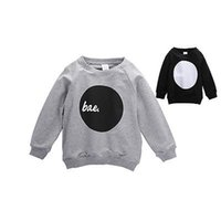 Wholesale Kids Cute Hoodies - Wholesale- 2016 Baby 1-4Years Boy Toddler kids Clothes Cute Letter bae Printing Sweatshirt Hoodies Full Sleeve Pullover Tops