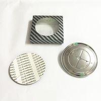 Wholesale Bmw Carbon Fiber Emblem - 1Pcs 82mm 74mm Black& White Blue & White Fake Carbon Fiber Hood Rear Trunk Emblem Badge Logo for E46 E39 E90 E60 Z3 X3 X5 X6