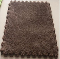 Wholesale Plush Room Carpet - living room bedroom children soft puzzle patchwork mat magic cube slip-resistant carpet baby kids climbing rug 30CM*30CM