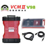 obd2 vcm toptan satış-V98 VCM II 2 in 1 IDS Teşhis aracı Için Fd / Mazda VCM 2 VCM2 OBD2 Tarayıcı Tek Yeşil PCB ile 2016 Yeni V98 VCM II plastik Bavul