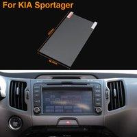 7 'navegação gps venda por atacado-Estilo do carro 7 Polegada Tela de Navegação GPS de Aço Película Protetora Para Kia Sportage R Controle de Tela LCD Etiqueta Do Carro