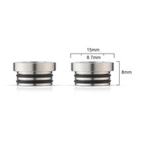 Wholesale drip tip adapters - TFV8 510 Adapter for TFV8 Tank Connecter Adaptor E Cigarette Stainless Steel 510 TFV8 Drip Tips Adapter