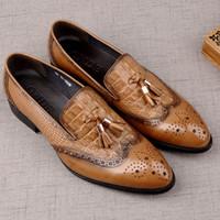 230482ab05b40 zapatos de carrefour al por mayor-Nuevos llegan los hombres de cuero  genuino patrón de