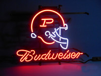 "Wholesale Beer Advertising Signs - Budweiser Purdue Boiler Makers Neon Sign Custom Handcrafted Real Glass Tuble Beer Bar KTV Club Pub Advertising Display Neon Signs 17""X14"""