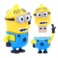 Wholesale Despicable Usb Memory - Exquisite hands up small yellow USB flash drive 8G 16G 32G 64G 4G pen drive, despicable my cartoon creative U disk memory stick