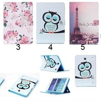 Wholesale samsung galaxy tab 9.7 flip cover for sale - Group buy Flower Beautiful Cover Owl PU Leather Fashion Wallet Flip Magnetic Case For Samsung Galaxy Tab A T350 Tab A T550