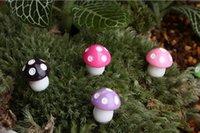 mesa de bonsai venda por atacado-New DIY Minúsculo Cogumelos Jardim Terrarium Home Decor Artesanato Bonsai Miniaturas Garrafa Plantas Mesa Micro Paisagem Decoração