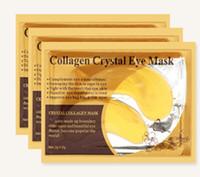 Wholesale 24k Gold Mask Gel - 24k Gold Eye Crystal Collagen Anti-Wrinkle Anti-Ageing Under Eye Gel Mask Facial+ Free Shipping + Free Gift